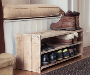 Cool Pallet Shoe Rack