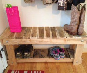 Rustic Pallet Shoe Rack