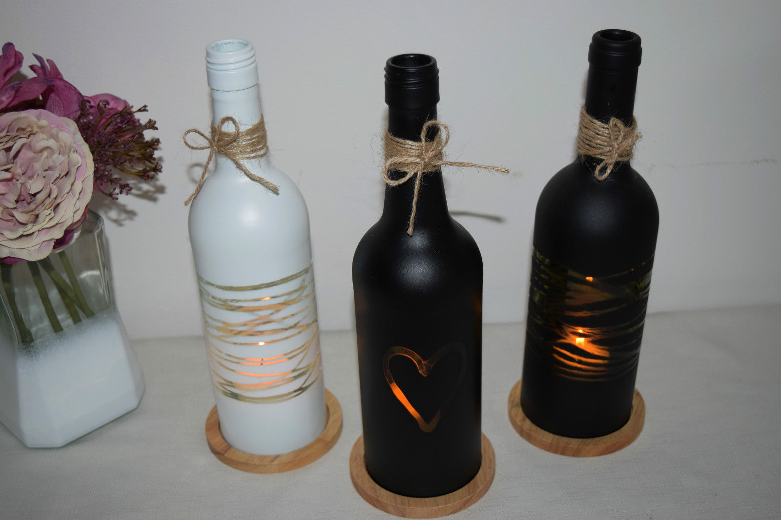 27 Ideas on How to Make Wine Bottle Candle Holders - Patterns Hub