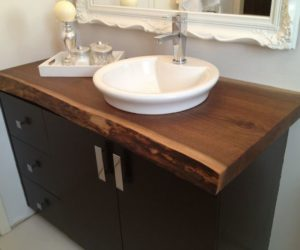 Wooden countertops bathroom