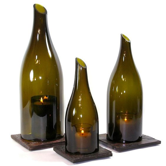 27 Ideas On How To Make Wine Bottle Candle Holders