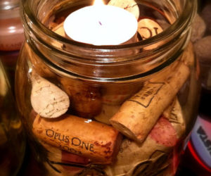 Classy Wine Cork Candle Holder