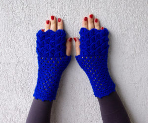 fingerless glove crochet pattern simple