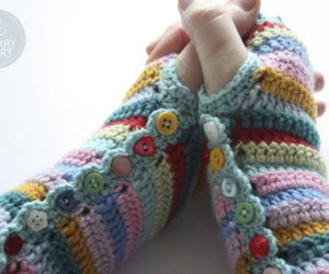 fingerless gloves crochet pattern easy