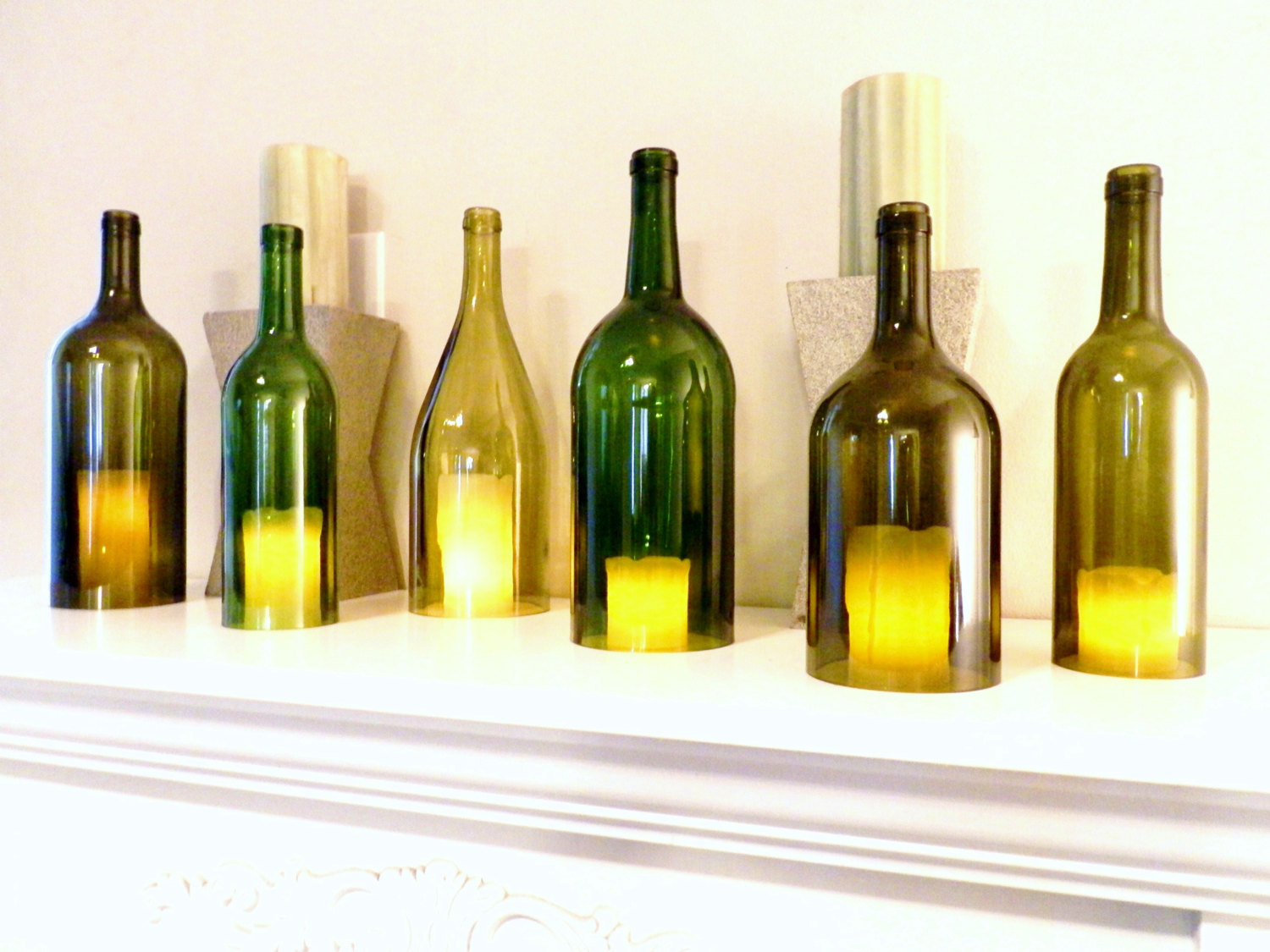27 Ideas On How To Make Wine Bottle Candle Holders Patterns Hub
