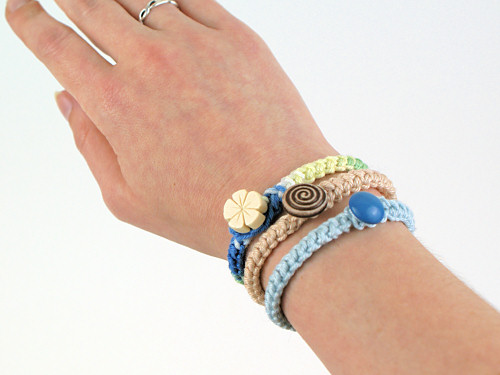 Crochet Bead Bracelet