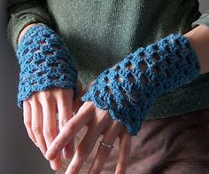 fingerless gloves crochet pattern beginner