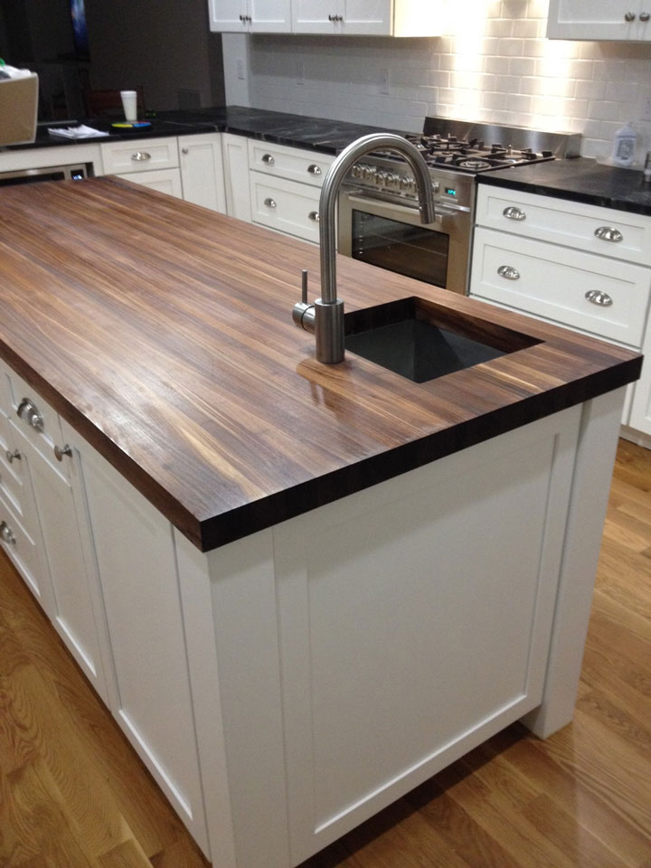 20 ideas for installing a wooden countertop at your home for Installing butcher block countertops