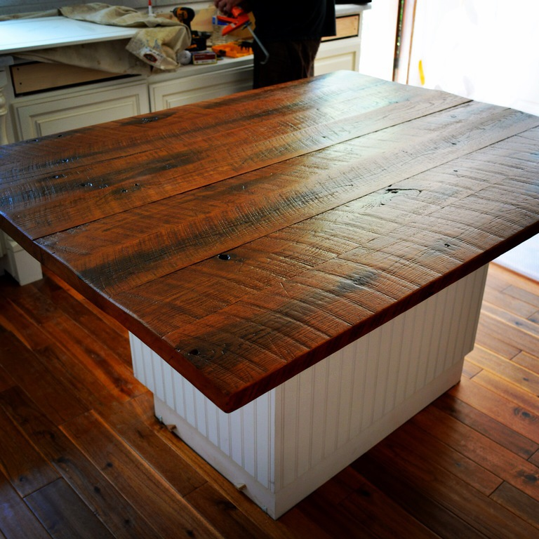 Diy Wood Plank Countertop Wood Countertops with Black Cabinets Wood ...