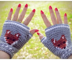 Crocheted Fingerless Gloves Pattern