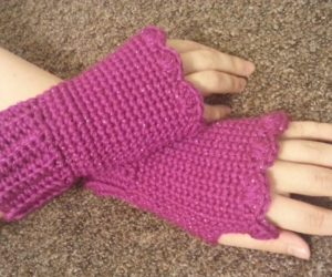 seamless fingerless gloves crochet pattern