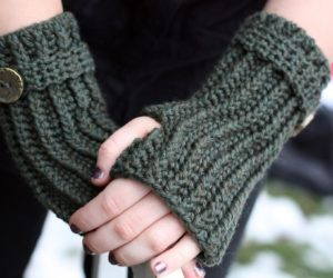 Free Crochet Fingerless Gloves Pattern