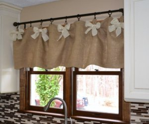 making a burlap valance