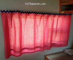 No-Sew RV Curtain