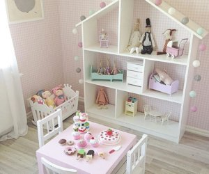 Narrow Dollhouse Bookcase
