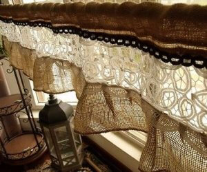 burlap fabric valances