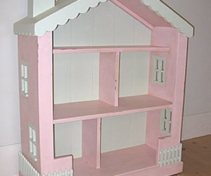 dollhouse shaped bookshelf