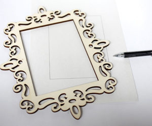 Personalized Cardboard Picture Frame
