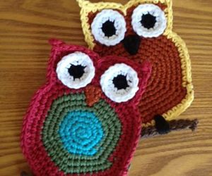 Crochet Owl Coaster