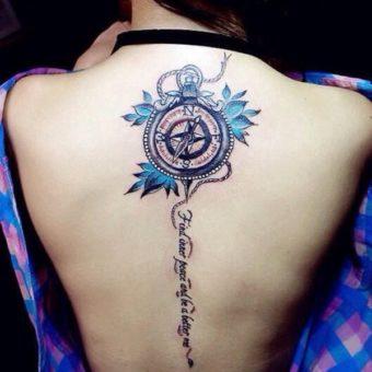 Compass Tattoos for women