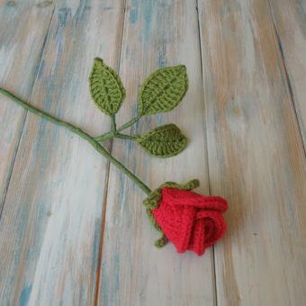 crochet rose pattern easy