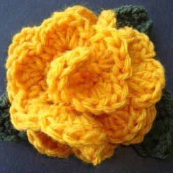 crochet rose pattern easy free