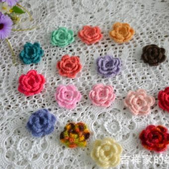 crochet mini rose pattern