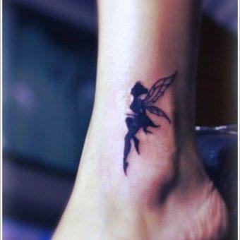 angel tattoosankle