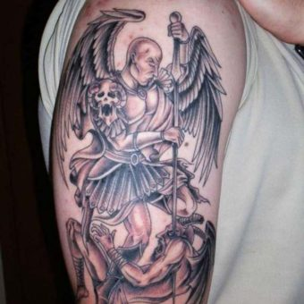 angel tattoosupper arm
