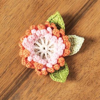crochet rose corsage