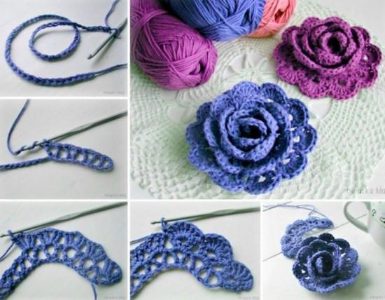 crochet a rosepattern