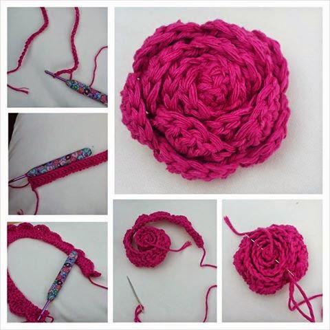 crochet easy rose pattern free
