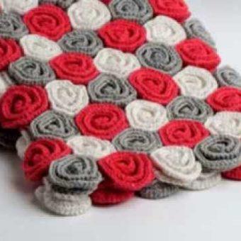 crochet rose blanket free pattern