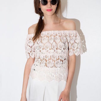 Off Shoulder Top Lace