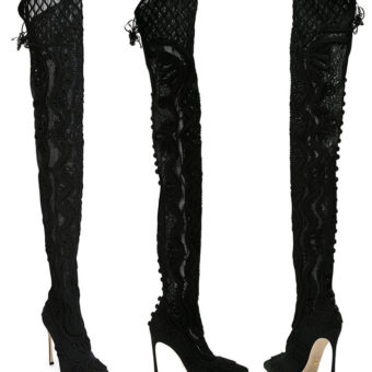 Sergio Rossi  Thigh-high Winter Boots: