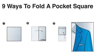 Square handkerchief fold