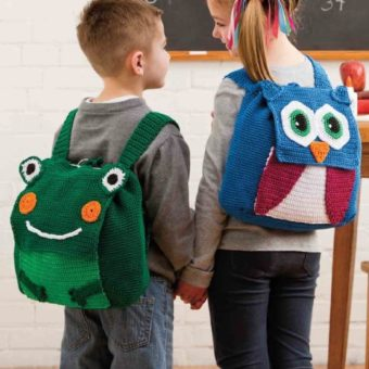 crochet owl backpack pattern