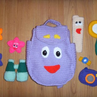 crochet dora backpack pattern