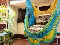 crochet hammock chair pattern