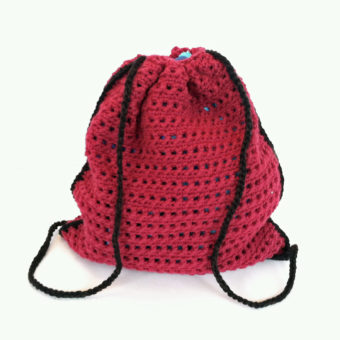 crochet drawstring backpack pattern free