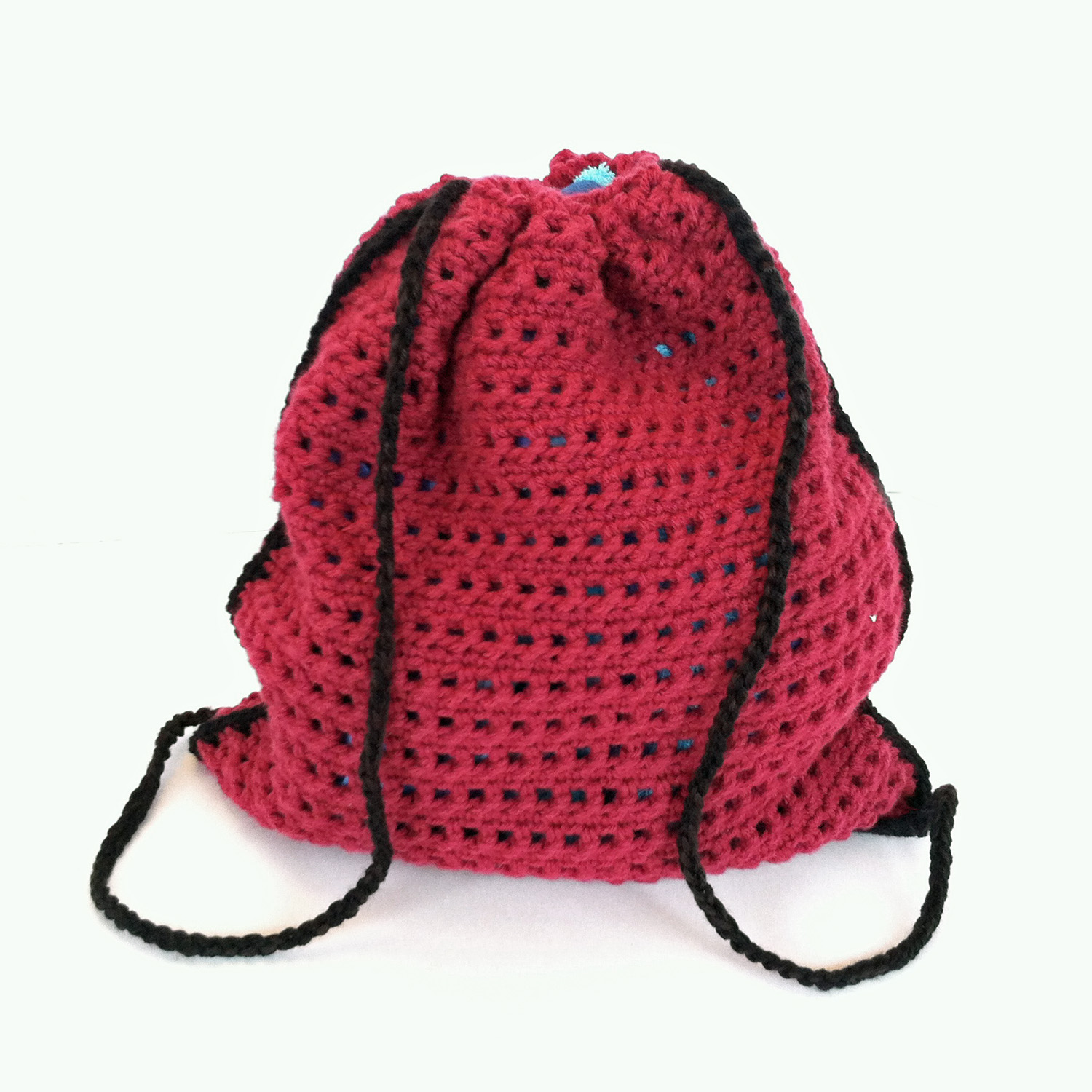 How to crochet a Little Backpack with Drawstrings popular among Teens | 1500x1500