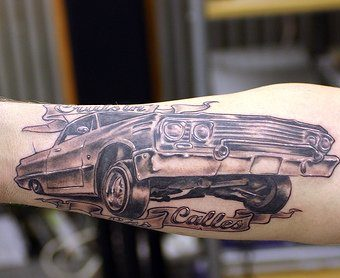 Cars Tattoo Designs for men