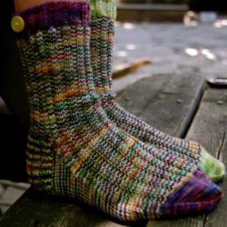 Colorful Crochet Socks