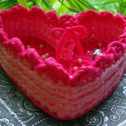 heart basket crochet patterns