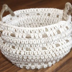 free crochet rope basket patterns