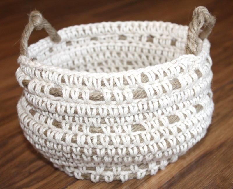 Crochet Stitches Basket : Crochet Rope Basket Crochet Storage Basket Pattern