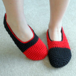 Easy Crochet Slipper Socks Pattern