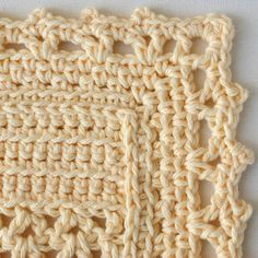 Crochet Dishcloth Edging Patterns