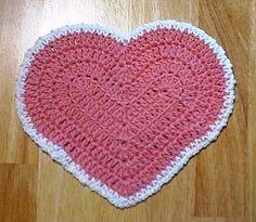 red heartcrochet dishcloth patterns