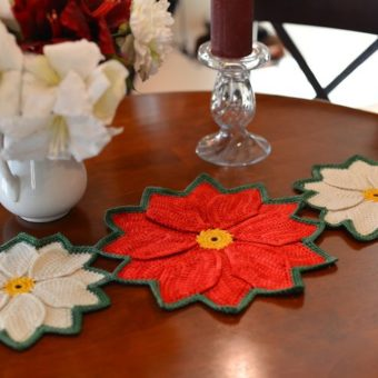 Crochet Poinsettia Table Runner Pattern